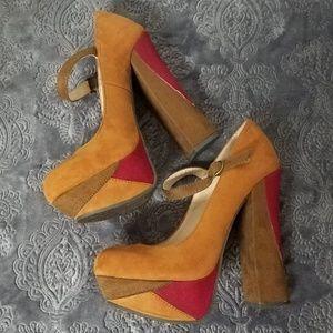 😍RARE RETRO FUNKY CHUNKY Candie's Platform heels